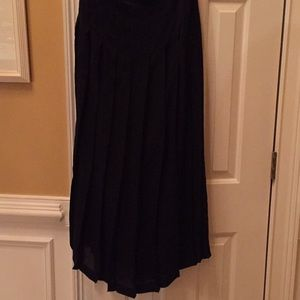 Ralph Lauren fully lined pleated maxi 100% silk